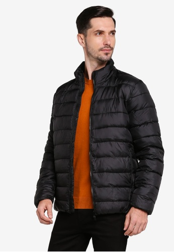 Selected Homme black Plastic Change Puff Jacket AE116AA50442BDGS_1