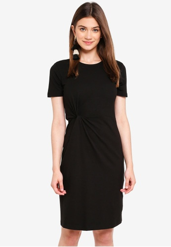JACQUELINE DE YONG black Domino Tight Dress 0B20EAA2346615GS_1