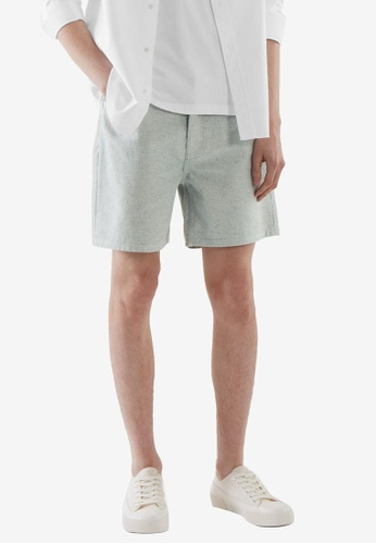 COS blue Relaxed-Fit Denim Shorts 784C7AAA625603GS_1