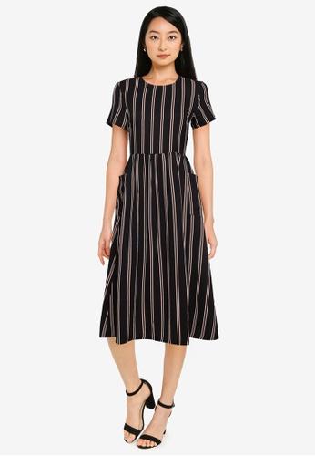 ZALORA BASICS black Oversized Pocket Dress 703D5AAA261987GS_1