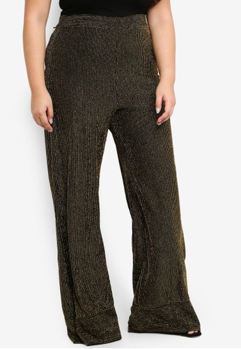 05a9d6bf185 Shop MISSGUIDED Plus Size Glitter Pinstripe Wide Leg Trousers Online on  ZALORA Philippines