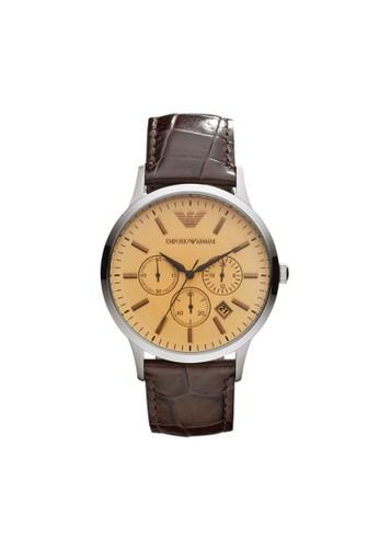 esprit 寢具Emporio Armani RENATO經典系列腕錶 AR2433, 錶類, 紳士錶