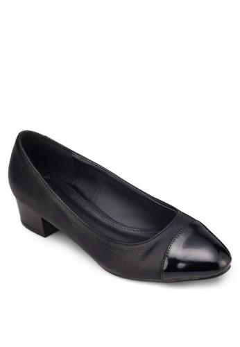 拼接粗跟淑女鞋, 女鞋, 厚底高跟zalora 台灣鞋