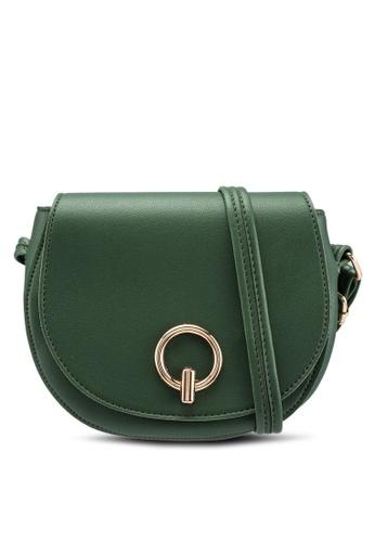 Verchini green Mini Stylo Sling Bag 084AAACCDC69E9GS_1