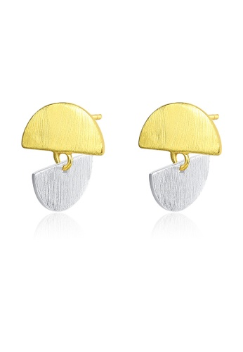 SUNRAIS gold High quality Silver S925 gold simple design earrings 71E77AC0C3AD9EGS_1