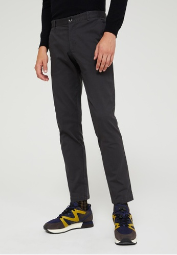 Sisley grey Slim Fit Trousers E27C9AA2F0A554GS_1