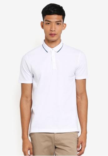 G2000 white Tipping Collar Polo Shirt FDB6FAAC41EC31GS_1