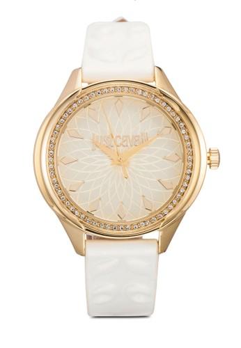 R725157150esprit招聘4 Jc01 閃鑽壓紋皮革手錶, 錶類, 飾品配件