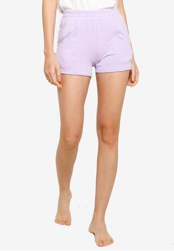 UniqTee purple Comfort Shorts with Elastic Waistband B3C75AA69A35D6GS_1