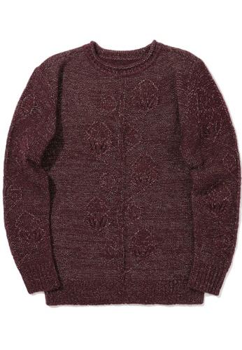 tout à coup red Lurex knit sweater 85145AAC30CA43GS_1