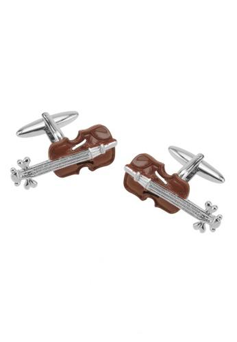 CUFF IT brown Brown Violin Cufflinks CU047AC17SVEHK_1