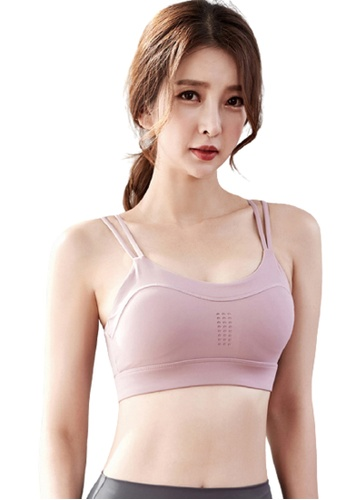 Trendyshop pink Quick-Drying Yoga Fitness Sports Bras B760FUS8565B1BGS_1