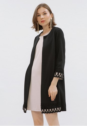 Minimal black Layered Black Jacket Dress 06EABAA64ECA21GS_1