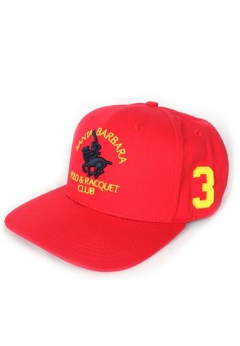 Santa Barbara Polo & Racquet Club red SBPRC Baseball Cap 10-9101-01 951BFACA3464DEGS_1