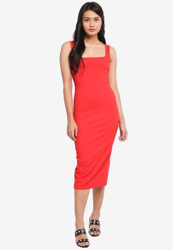 544917fc01dd Dressing Paula red Bodycon Ribbed Midi Dress 5D451AA1643845GS 1