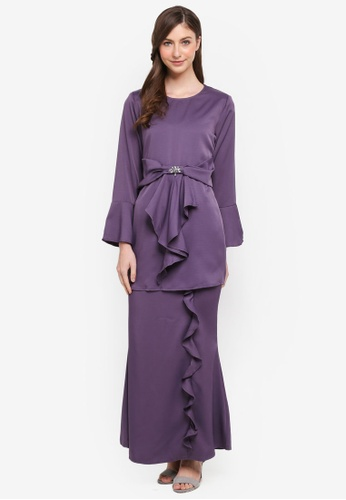 peace collections purple Waist Sash Kurung CA4FAAA40F9A4AGS_1