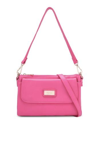 Perllini&Mel pink Faux Leather Sling Bag PE444AC0S33HMY_1