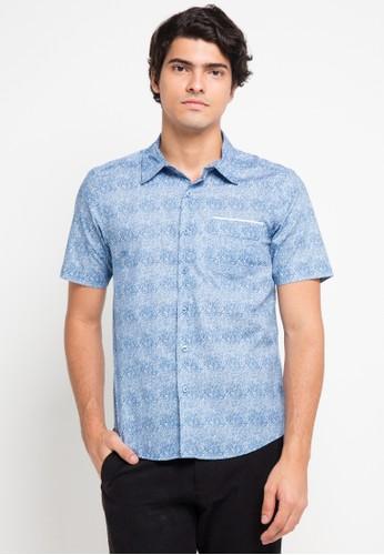 BRITANIA blue Short Sleeve Art Print Shirt BR202AA0V8YZID_1