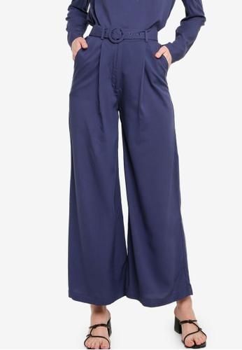 Zalia blue Wide Leg Pants Made From TENCEL™ F4CF9AA3377552GS_1