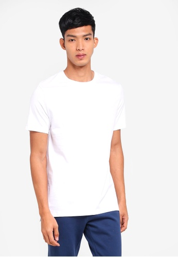 Burton Menswear London white White Longline Fit Crew Neck T-Shirt EDDC8AA66D10DAGS_1
