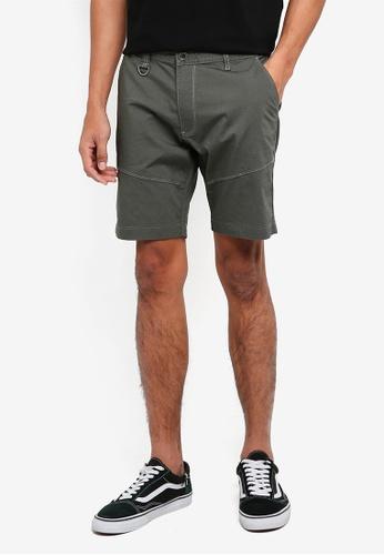 SPARROW GREEN 褐色 素色休閒短褲 CE15AAA28D7D59GS_1