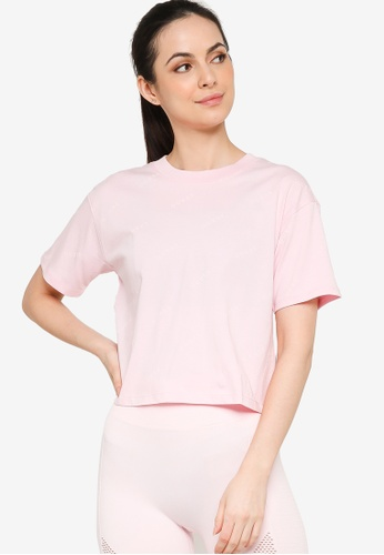 Guess pink Eco Astra Cropped Tee 2B4A7AACCD99B1GS_1