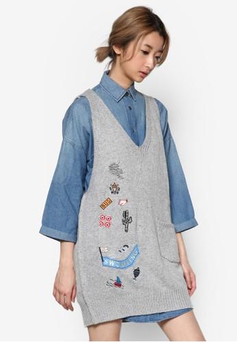 Play 刺繡針織無袖連身裙, zalora taiwan 時尚購物網服飾, 洋裝