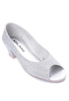 Lea Formal Glitz Peep Toe Mid Heel