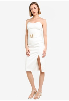 ea0aaba49bff5 17% OFF River Island White Belted Bodycon Midi Dress HK$ 599.90 NOW HK$  497.90 Available in several sizes