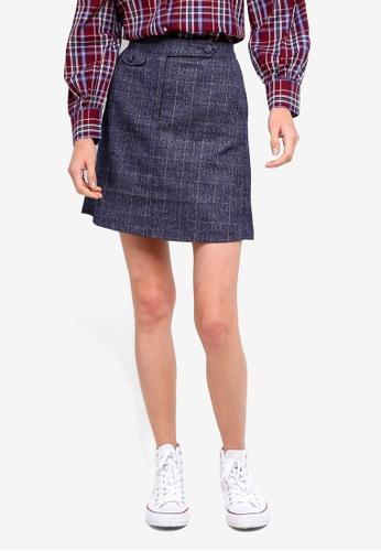 ESPRIT navy Woven Mini Skirt EB542AA420FDB3GS_1