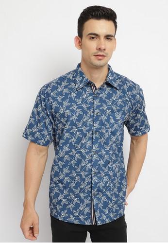 Poshboy blue Poshboy Dabney Shirt Blue A3B2EAAC499EA1GS_1