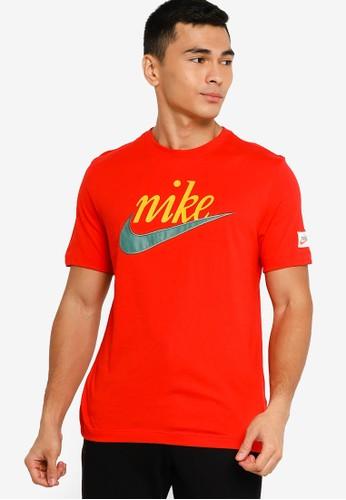 Nike red As Men Retro Nsw Tee FDD59AA78556C3GS_1
