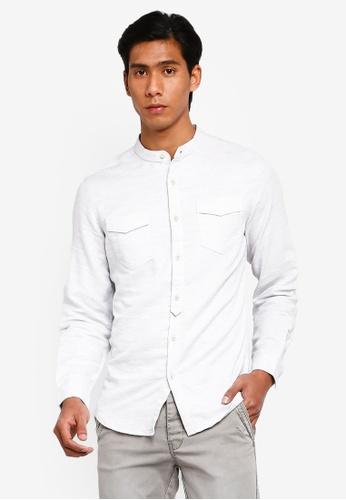OVS 灰色 經典Clean Look 襯衫 92502AA7223B24GS_1