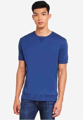 MANGO Man blue Cotton T-Shirt 1CF7BAA7DD7819GS_1