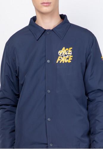 Jual Skelly Ace Face Coach Jacket Navy Original Zalora