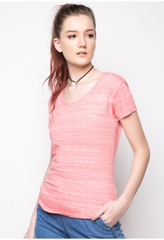 Round Neck Basic Tee with Bias Hem