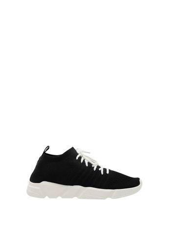 SEMBONIA black Men Synthetic Leather Sneaker 77235SH48A28EFGS_1