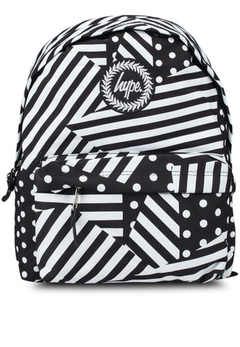 Just Hype black and white Ship Stripe Backpack 5C193AC1CE2F02GS_1