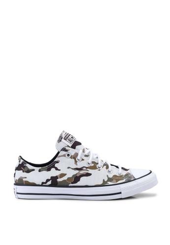 Converse white Chuck Taylor All Star Hoop Hunter Ox Sneakers 408D0SHBC78C8BGS_1