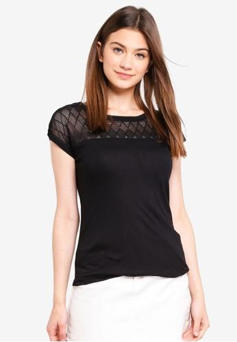 JACQUELINE DE YONG black Renee Lace Top D3E65AA5779DBEGS_1