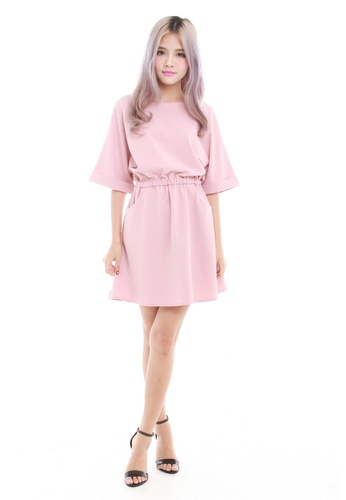 Sophialuv pink Kaye Oversize Casual Dress in Pink 4E80BAAE20E11FGS_1