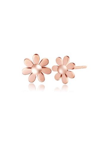 CELOVIS gold CELOVIS - Daisy Dainty Flower in Rose Gold Stud Earrings 7DB2BACA108A75GS_1