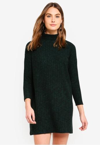 Dorothy Perkins green Green Brushed Jumper Dress C1FFCAAAEFA403GS_1