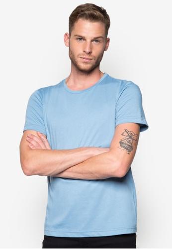 ZALORA 藍色 基本款素色TEE ZA919AA55BNGSG_1