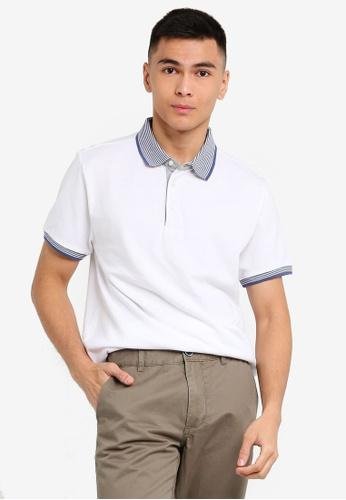OVS 白色 Men's Line POLO衫 40C7DAAC8F5AFFGS_1