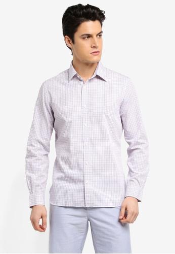 Brooks Brothers 白色 格紋休閒襯衫 25FE8AA2C0092EGS_1