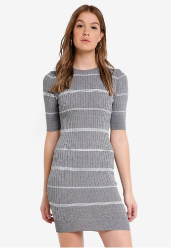 ZALORA BASICS grey Basic Bodycon Rib Dress 276ACAAE8D9D54GS_1