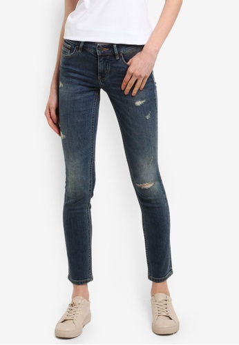 Calvin Klein blue Distressed Skinny Jeans - Calvin Klein Jeans 3780AAA1F57292GS_1