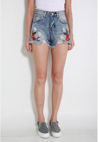 Leline Style blue Janel Denim Shorts LE802AA22RMJSG_1