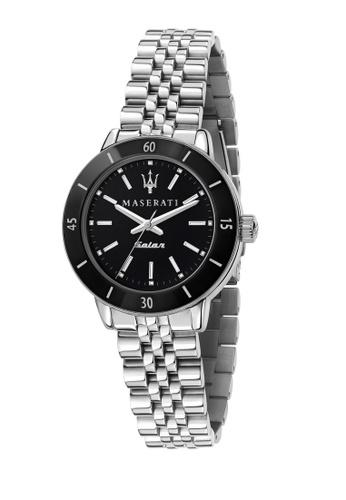 Maserati silver Maserati Successo Solar 32mm Black Dial Quartz Ladies Solar Watch R8853145506 22728AC892EF9CGS_1